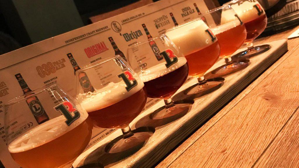 Lemke Brauhaus tasting selection. Photo by Content Creator, Tom Vaughan-Mountford.