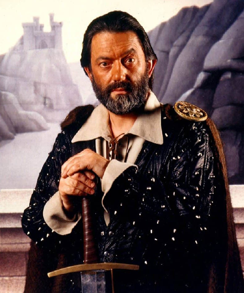 Actor Hugo Myatt as Treguard in ITV's Knightmare