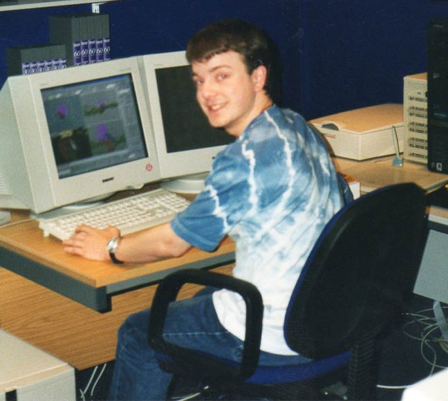 Video Editor Tom Vaughan-Mountford in 2001