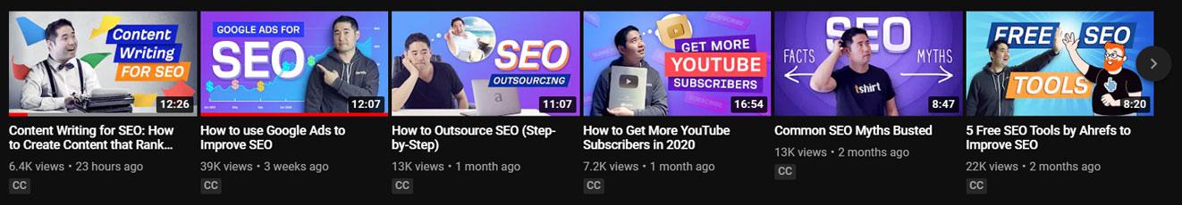 SEO benefits of video marketing, ahrefs youtube thumbnails.