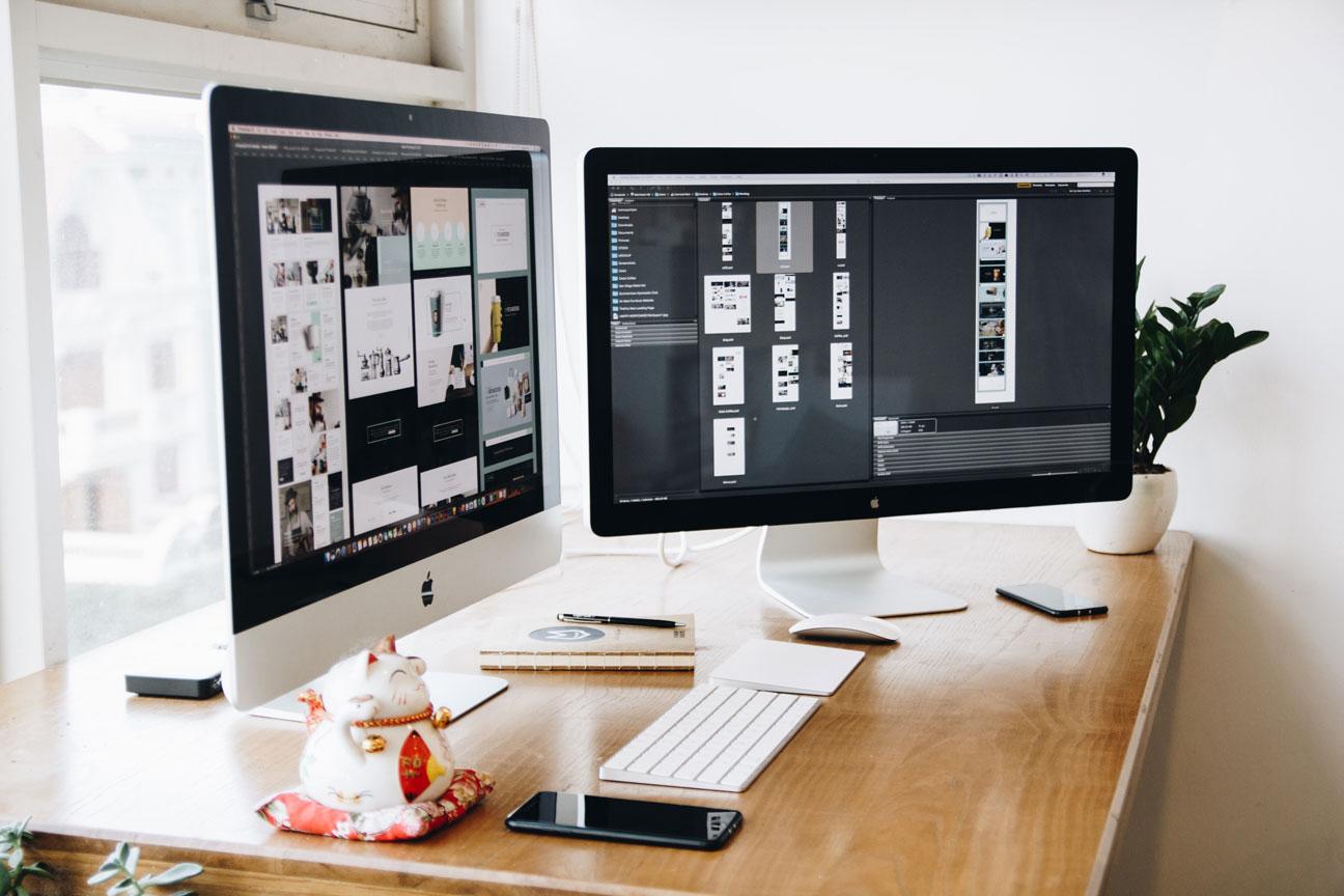 Motion design for TV ads, home Mac setup.