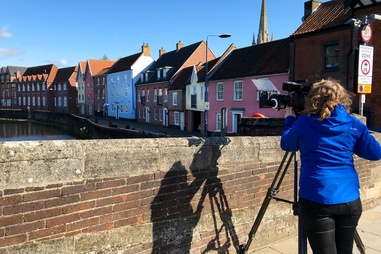 TV commerical production in Norwich.